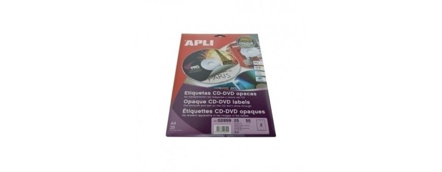 Etiquetas adhv. para impresora CD-DVD